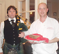 Ready to address the Haggis
