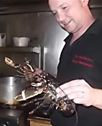 Tim and a lobster